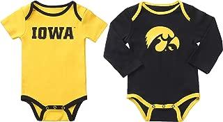 Fast Asleep Pjs NCAA Iowa Hawkeyes 2 pcs Baby Bodysuits