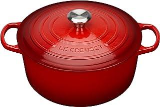 Le Creuset Evolution Cocotte con Tapa, Redonda, Todas Las Fuentes de Calor incluida inducción, 5,3 l, Hierro Fundido, Rojo(Cereza), 26 cm