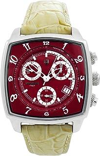 LANCASTER ユニセックス 腕時計 クロノグラフ XL Unico レザーバンド