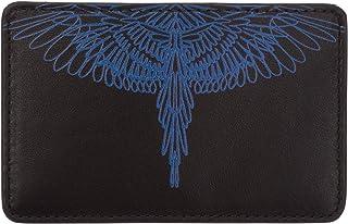 Marcelo Burlon hombre Pictorial wings fundas para tarjetas de visita black/blue