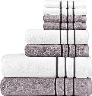 DIAOJIA Bath Towels Soft Cotton Set - 8,Turkish 100% Cotton Premium & Luxury Towels Bathroom Sets Soft and Fluffy 2 Bath T...