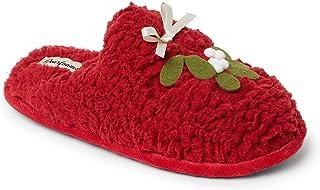 Dearfoams Women's Shay Giftable Holiday Themed Novelty Scuff Slipper