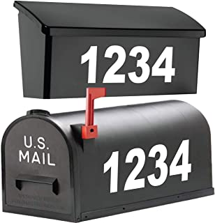 """Best 1060 Graphics 4"""" Premium Reflective Mailbox Numbers - Custom Made in Any Style, Color, Text, Size - Design Your Own Address Vinyl Sticker Decals Review"""