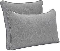 DYNMC you 2 x cojines de sofá con relleno y funda de algodón OEKO TEX de alta calidad - cojines decorativos con relleno - cojines decorativos gris - cojines decorativos en un diseño moderno