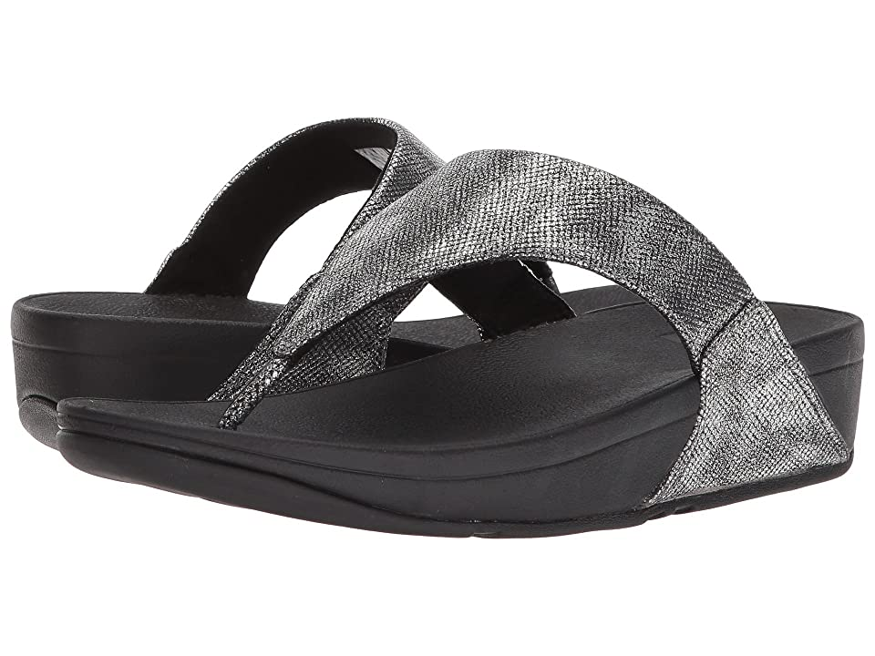 FitFlop Lulu Toe-Thong Sandal (Black Shimmer Print) Women