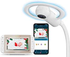 Motorola Halo+ Video Baby Monitor - Infant Wi-Fi Camera with Overhead Crib Mount - 4.3-Inch Color Screen with Infrared Night Vision and Intercom - Compatible with Remote Viewing App and Sleep Tracker