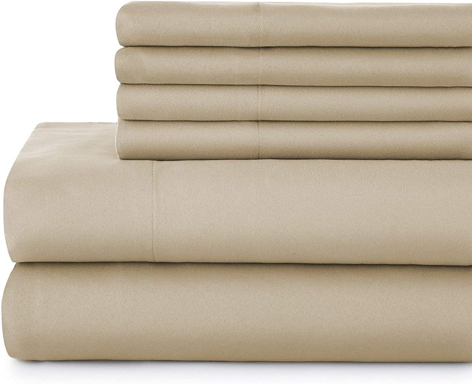 4-Piece Hotel Luxury Bed Sheets - Premium Collection 1800 Series Ultra-Soft Brushed Microfiber Sheet Set - Hypoallergenic - Wrinkle Resistant - Deep Pocket fits Upto 16  Twin XL Taupe