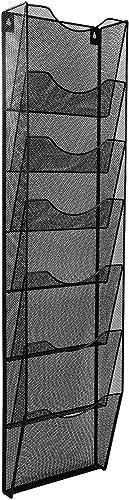 AmazonBasics 7-Pocket Steel Wall File, Black