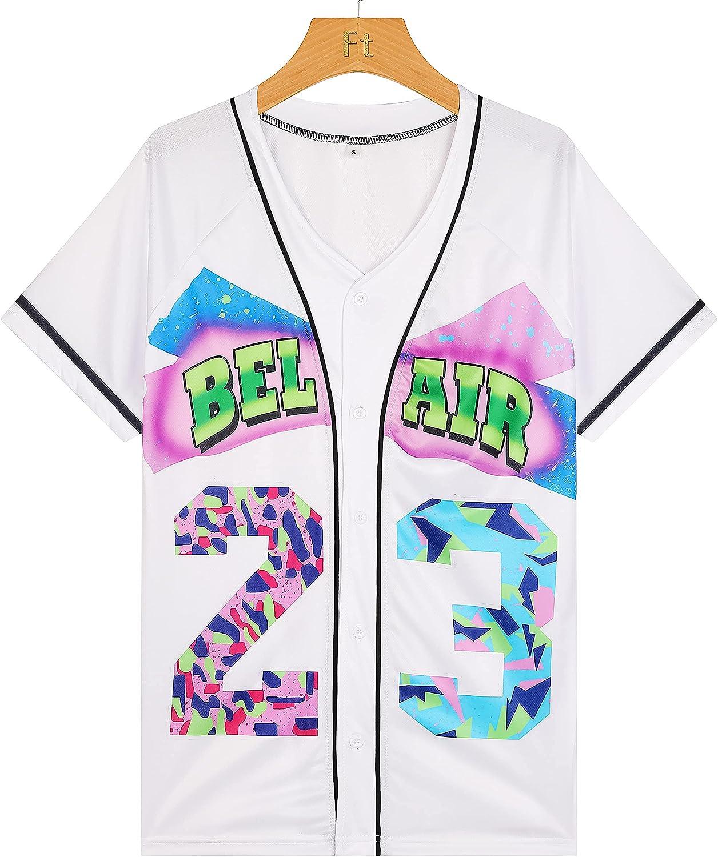 VPTYS 90s service Bel Air Ultra-Cheap Deals Baseball Jersey Pa for Fashion Blouses Hop Hip