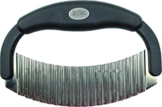 Tablecraft H6610 Crinkle Cutter Single Blade with Plastic Handle, Small, Black