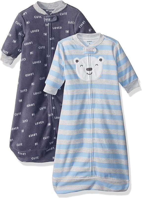 Carter S Baby Boys 2 Pack Microfleece Sleepbag