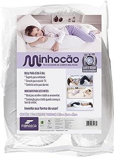 Travesseiro de Corpo Minhocão para Gestante - 21x150 cm - Fibrasca, Branco