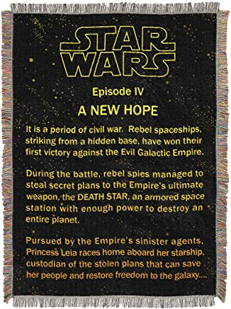 Northwest Star Wars A New Hope Opening Crawl Tapestry Throw Blanket 48 x 60
