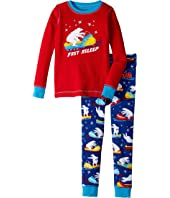 Hatley Kids - Polar Bear Snowmobile Waffle PJ Set (Toddler/Little Kids/Big Kids)