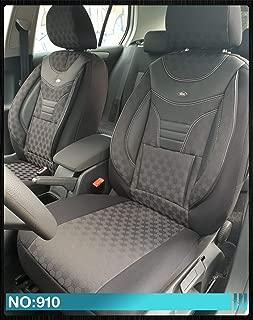 Fundas de asiento compatibles con Audi A4 B5, conductor y copiloto a partir de 1994 – 2001, número de color: 910.