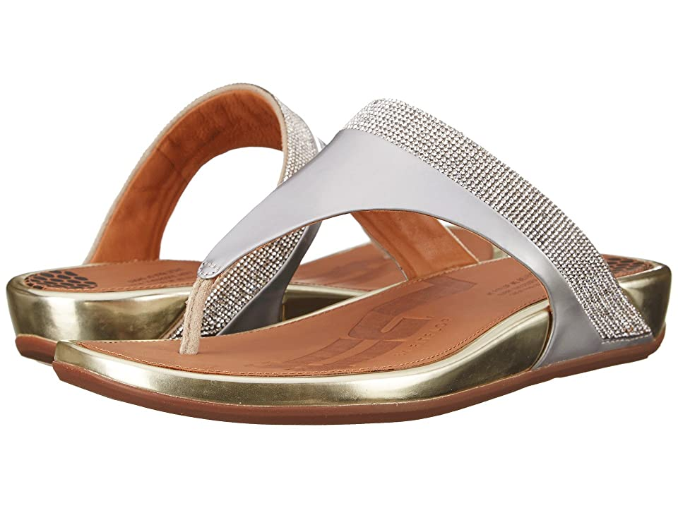 a479989bf FitFlop Banda Micro-Crystal Toe Posttm (Pale Gold) Women