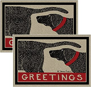 (Set of 2) Humorous Dog Sniffing Welcome Doormats Unique Guest Greetings