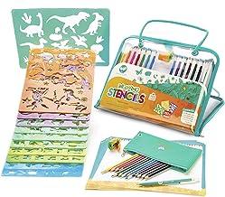 Creabow Crafts Set de arte y plantillas para pintar para niños - Juguetes educativos para mejorar la creatividad niños - Kit actividades viaje niños - Platinium Award 2018 - Regalo ideal para niño