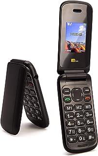 TTsims - Flip TT140 Mobile Phone - Camera - Bluetooth - Cheapest Flip Folding Clamshell Phone (Black)