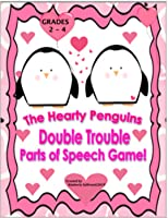 Hearty Penguins Double Trouble Valentine's Day Game! Grammar!