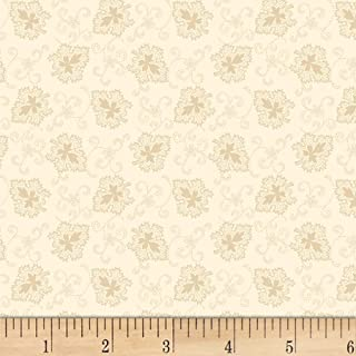 Henry Glass Buttermilk Autumn Oak Leaves Cream, Fabric by the Yard
