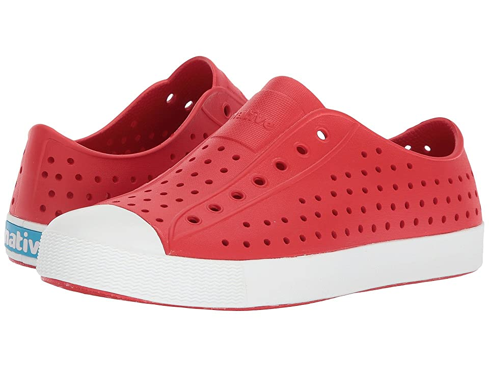 Native Kids Shoes Jefferson (Little Kid/Big Kid) (Torch Red/Shell White) Kid