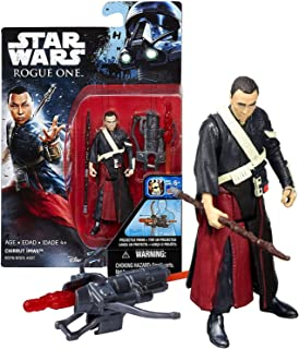 Star Wars Hasbro Year 2016 Rogue One Series 4 Inch Tall Action Figure - CHIRRUT IMWE (Donnie Yuen) with Staff and Crossbow with Missile