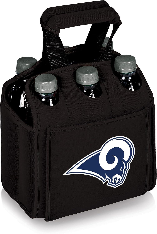 NFL LA Rams Six Pack Digital Print Tote, One Size, Black