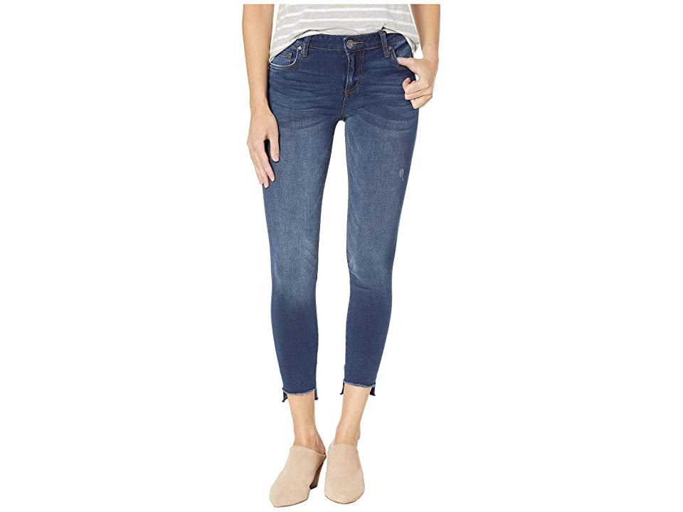 KUT from the Kloth Connie Ankle Skinny Jeans w/ Fray Hem in Thanks w/ Dark Stone Base Wash (Thanks w/ Dark Stone Base Wash) Women