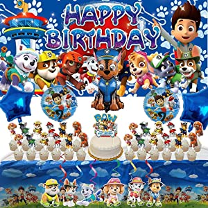 Paw Patrol Party Supplies | Banner | Banner | For Boys | Decorations | Favors | Backdrop | Birthday | Set | Decor