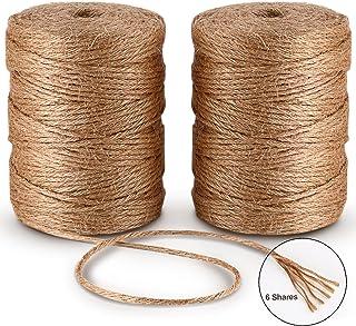6ply Bramante de Yute 100M*2Pcs Natural Yute Twine Cuerda de