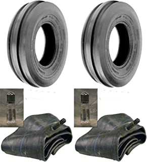 Air Loc LOT of Two (2) 4.00-8 4.00x8 Tri Rib (3 Rib) Tires with Tubes
