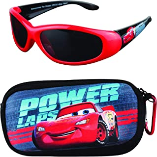 Disney Cars Kids Sunglasses with Matching Glasses Carrying Case and UV Protection