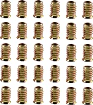 Gizhome 30pcs 25mm Hex Flanged Furniture Screw-in Nut Bolt Fastener Connector Hex Socket Drive Threaded Insert Nuts for Wood Furniture - M6