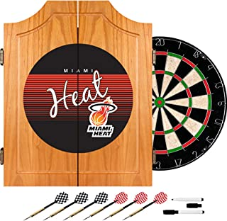 NBA Miami Heat Wood Dart Cabinet, One Size, Brown