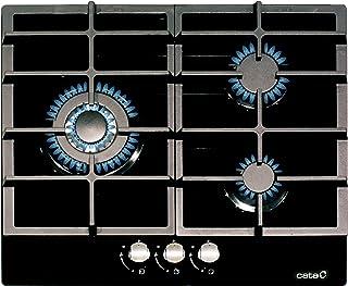 comprar comparacion Cata - Modelo LCIB 6021 BK, Encimeras butano 3 Fuegos, Cocina de Gas, Ancho de 58 cm, Parrillas/Quemadores Hierro Fundido,...
