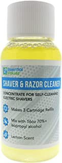 Essential Values 1 Fl OZ Shaver & Razor Cleaner - (3x Concentrated - 1 Pack) for Replacement Braun Clean & Renew Cartridge Refills