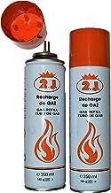 2J Set van 2 vullingen voor gasaanstekers, keukenbrander, gasaansteker, banketbakker, brand, butaanvulling, tuimelaar, fle...