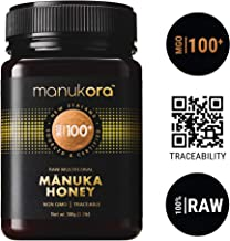 Manukora MGO 100+ Multifloral Raw Mānuka Honey (500g/1.1lb) - Authentic Non-GMO New Zealand Honey, UMF & MGO Certified, Traceable from Hive to Hand