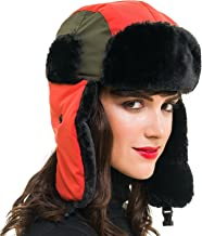MELIFLUOS DESIGNED IN SPAIN Trapper Bomber Hat for Men and Women Russian Warm Fur Ski Fall Winter Hunting