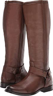 FRYE Women's Phillip Harness Tall Cognac 6 B US