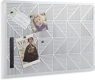 Umbra Trigon, Wall Mounted Bulletin Board, Magnetic Board, and Message Board, White (Renewed)