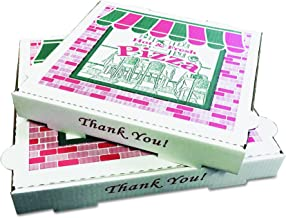 PIZZA Box PZCORB14 Takeout Containers, 14in Pizza, White, 14w x 14d x 2 1/2h, 50 per Bundle