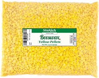 Stakich Yellow Beeswax Pellets - Natural, Cosmetic Grade - 14 Ounce