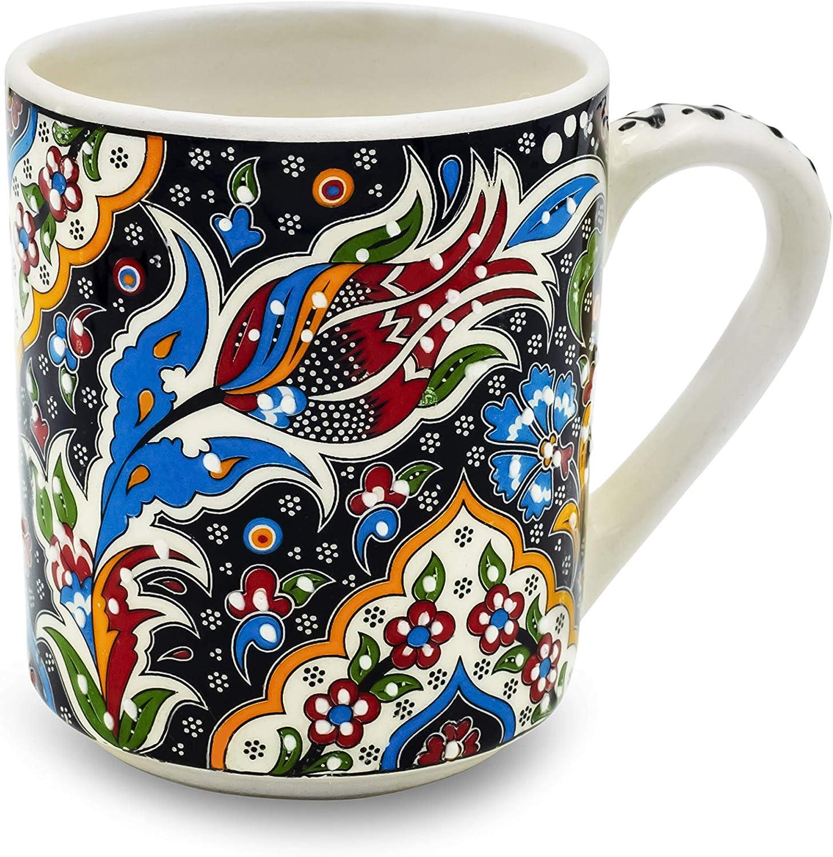 Handmade Ceramic Mug Decorative Max 82% OFF Organic - Figure Tulip Paint Manufacturer OFFicial shop Scr