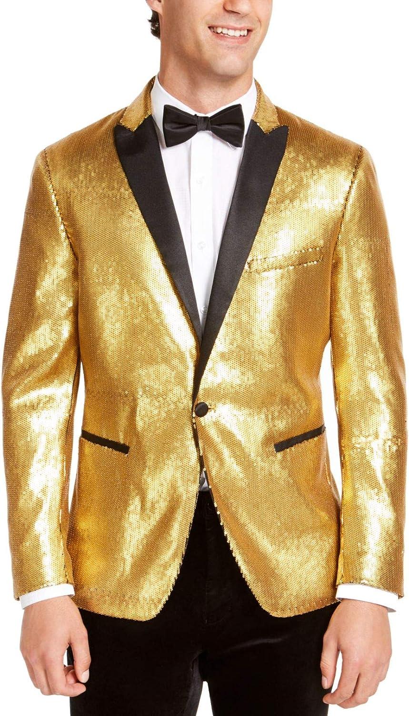 INC Mens Yellow Blazer XL Tall