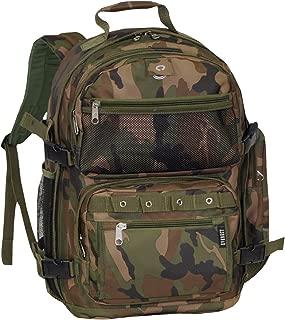 Everest Oversize Woodland Camo Backpack, Camouflage, One Size