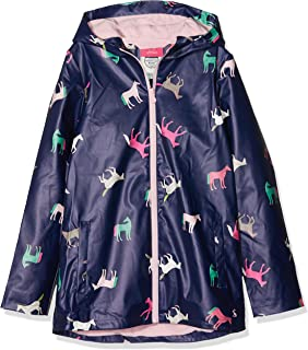 Joules Outerwear Girls Raindance Raincoat - Blue - 5