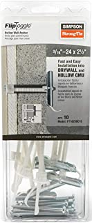 """Simpson Strong-Tie FT18250C10 3/16""""-24 FlipToggle Anchor with 2-1/2"""" Screw Bolt (10/Box)"""