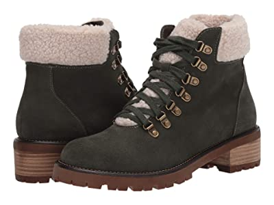 Blondo Melissa Waterproof Lace-Up Boot (Green Suede) Women